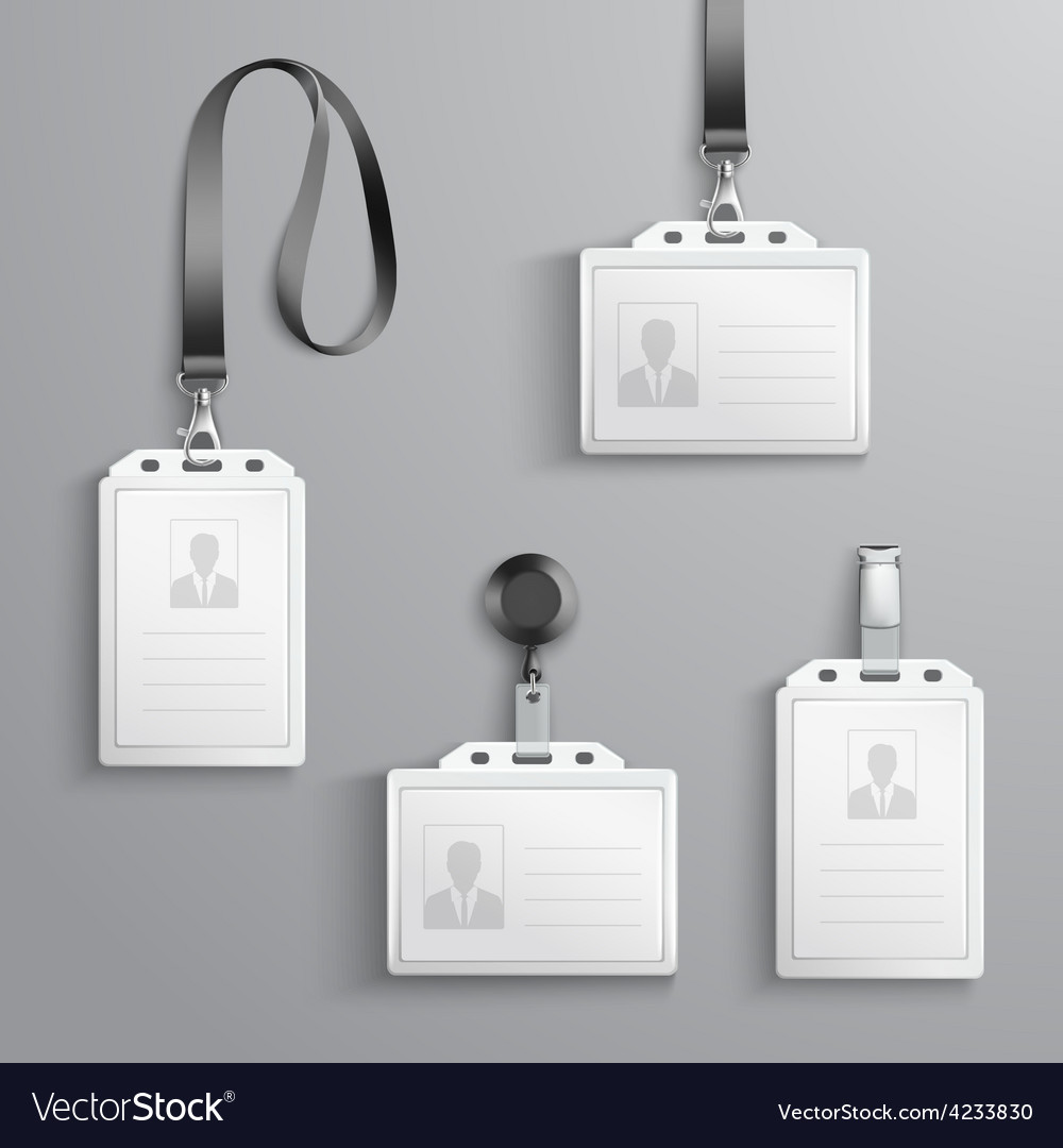 Identification cards set vector
