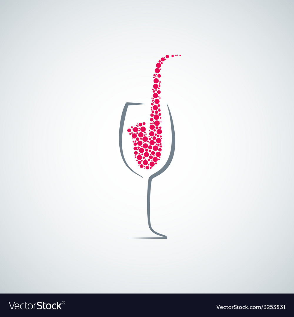 Wine glass jazz concept background vector