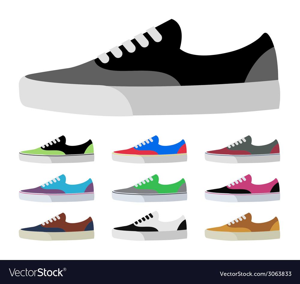 Canvas shoes vector