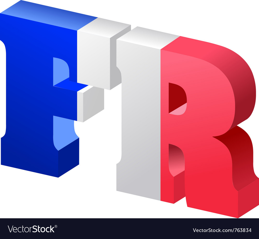 Internet top-level domain of france vector