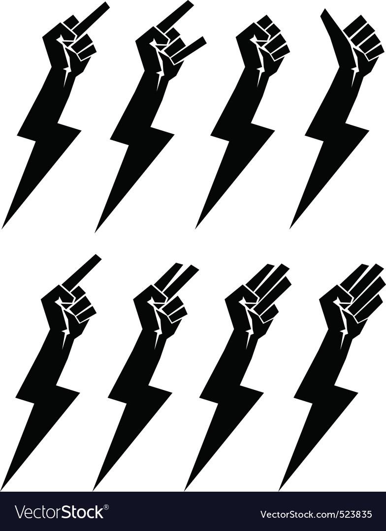 Fistbolt collection vector