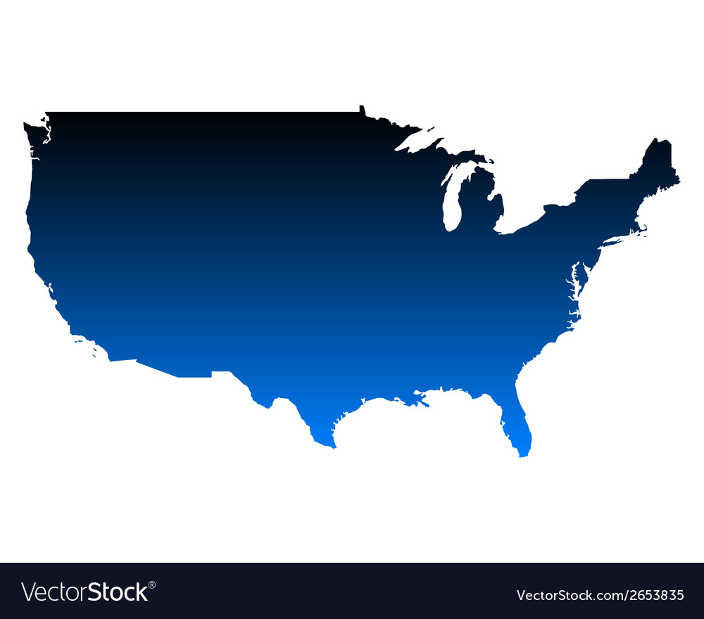 Map of usa vector