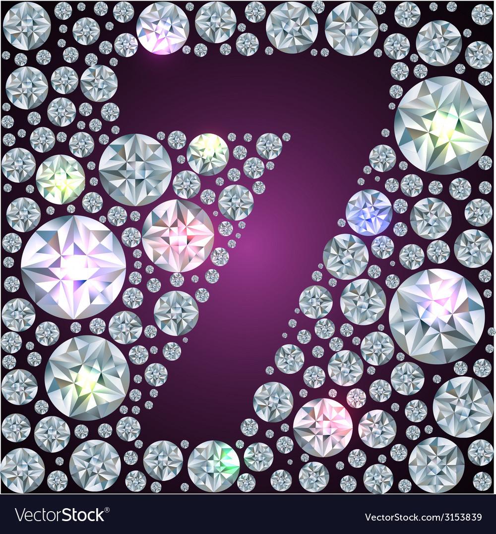 Diamond number seven vector