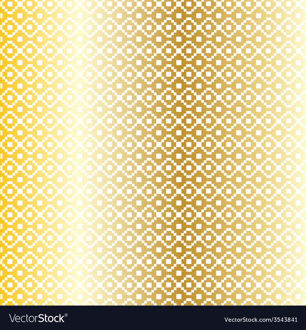 Gold nordic pattern vector