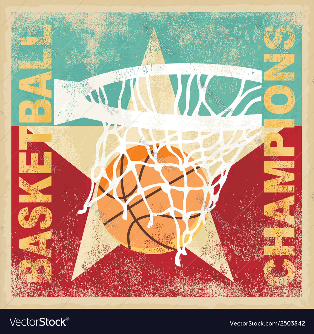 Basketball champion vector