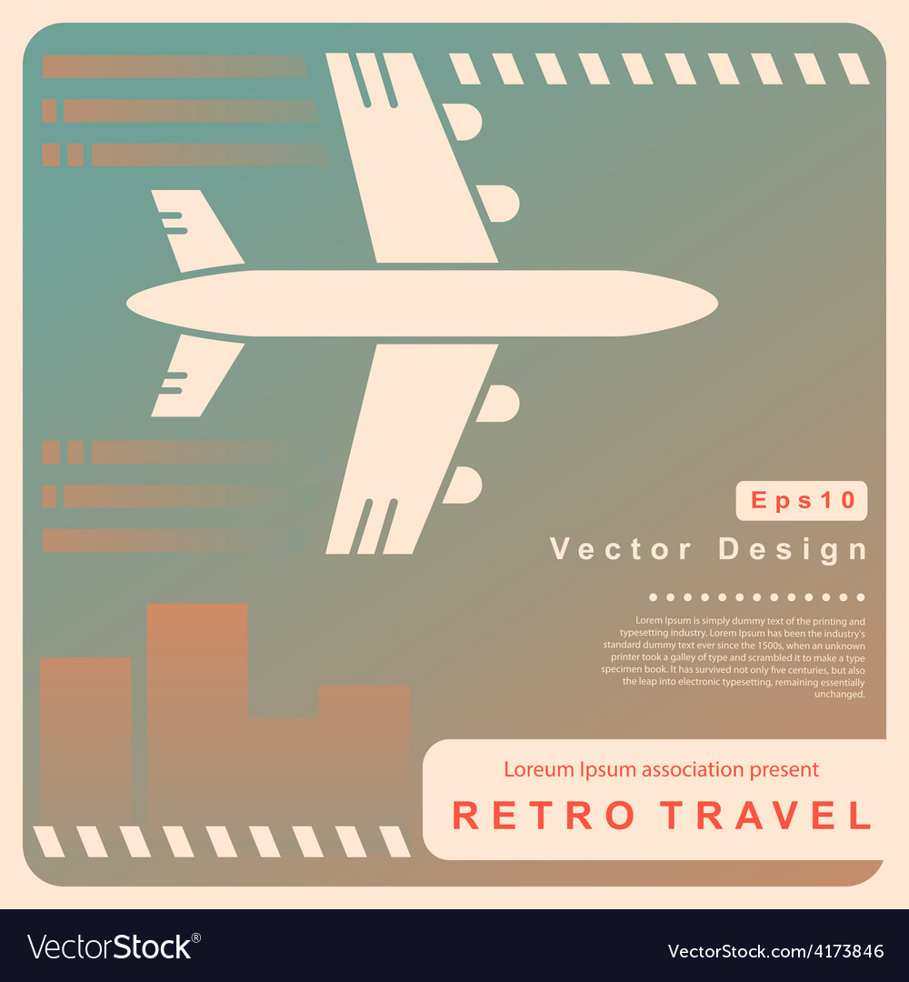 Retro travel vector