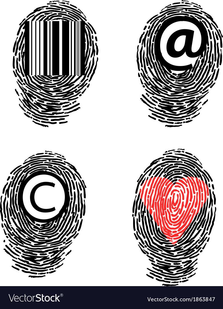 Finger prints vector