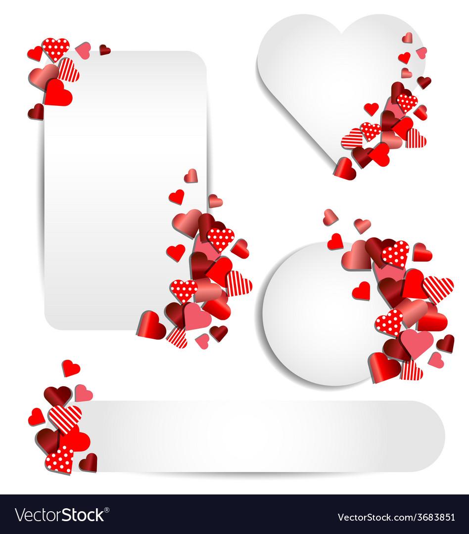 Set of heart frame for valentine day vector
