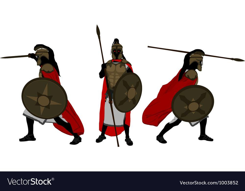 Ancient warriors vector