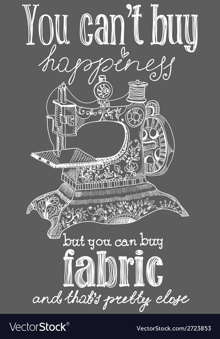 Vintage fashion and sewing poster vector