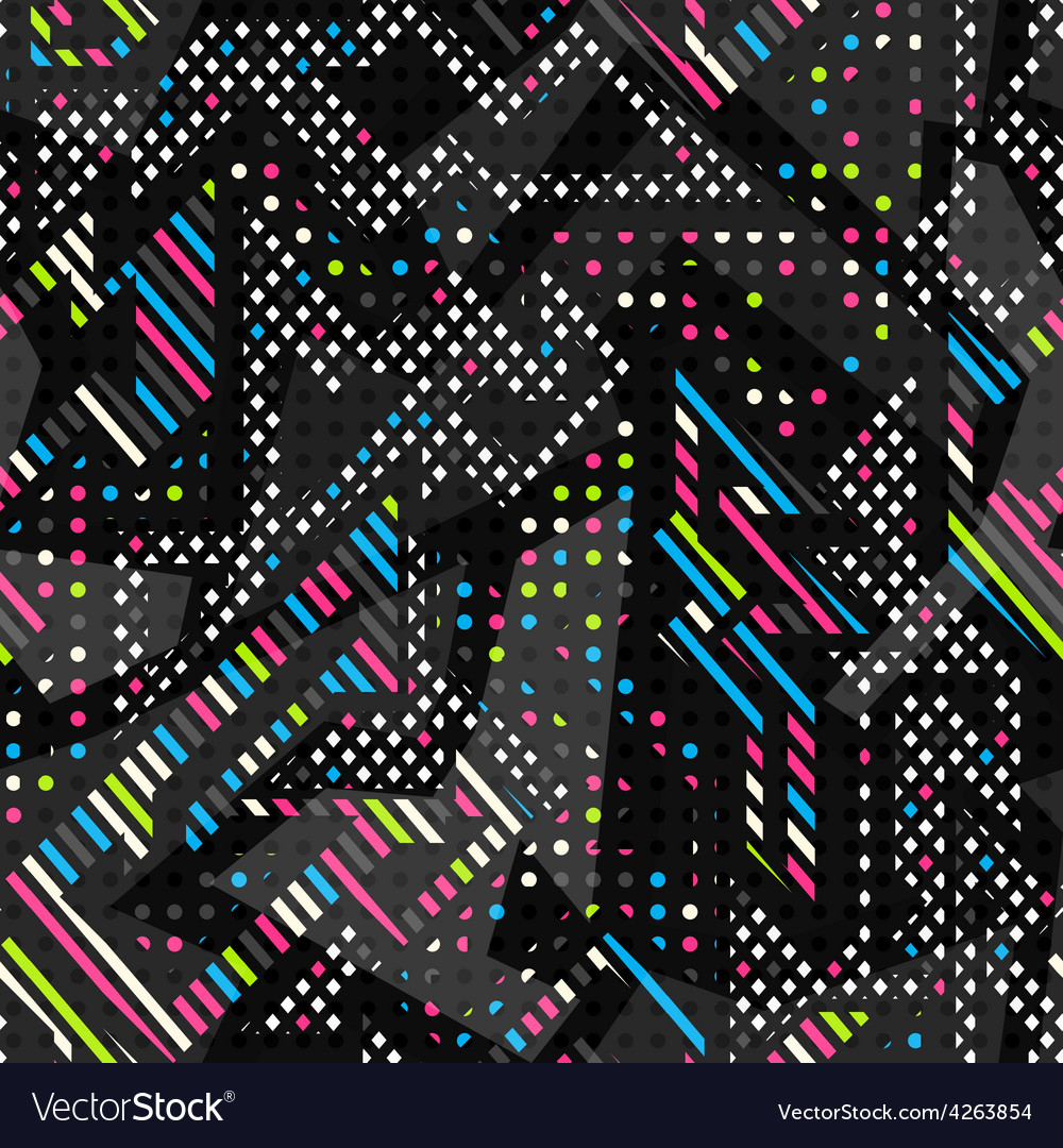 Spectrum color seamless pattern vector