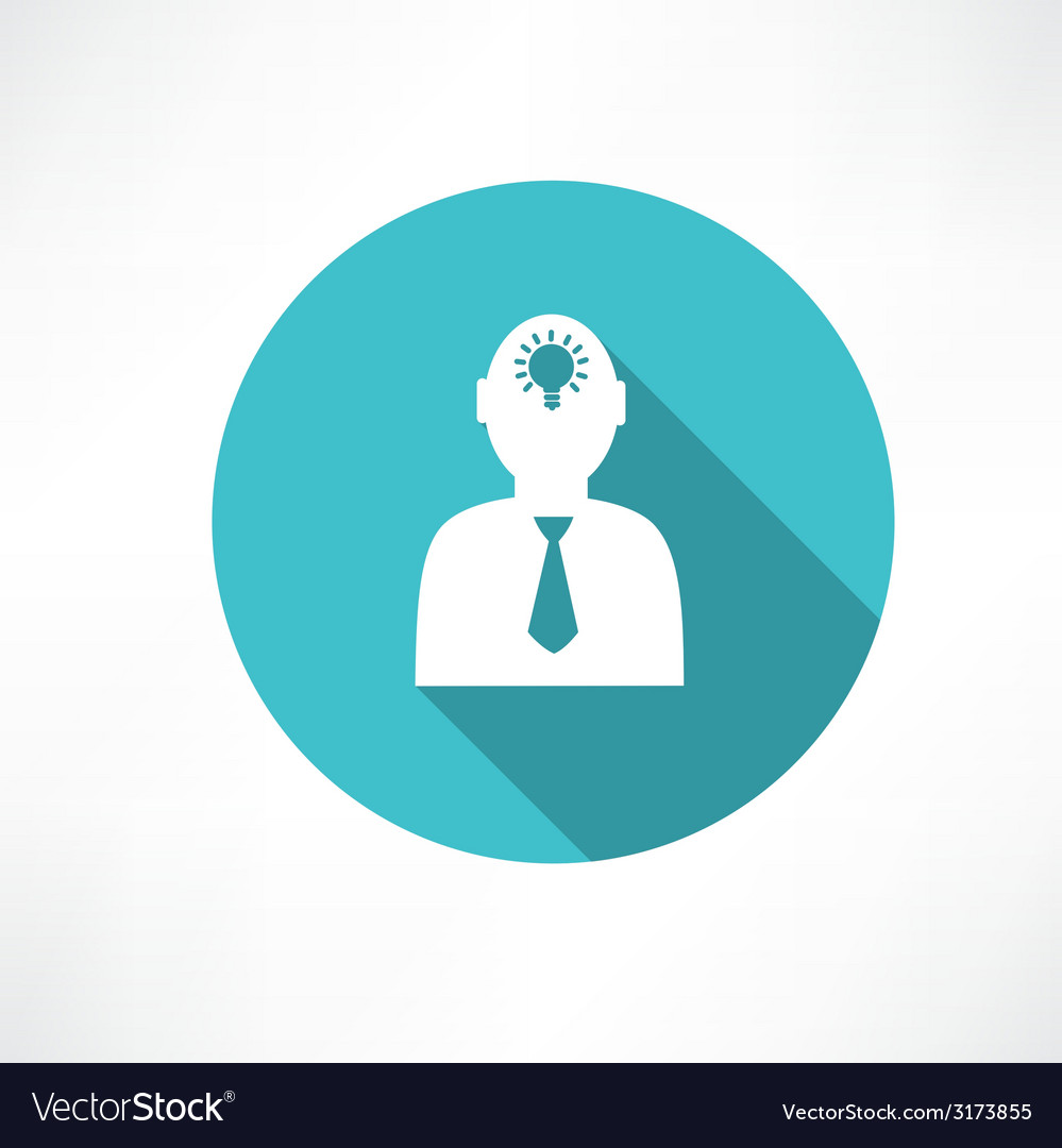 Idea in human head vector