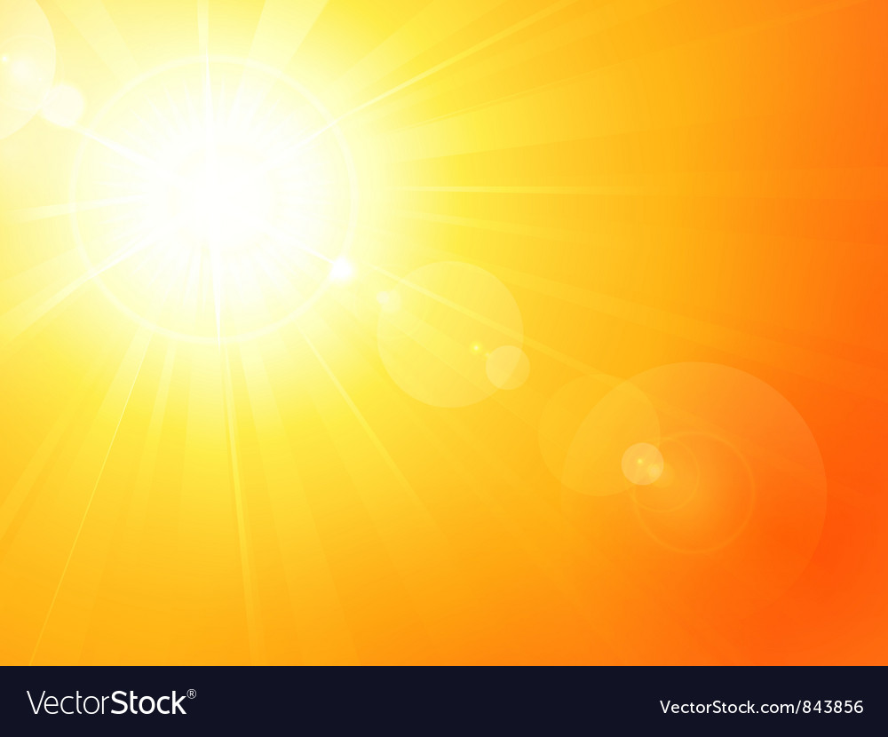 Vibrant hot summer sun vector