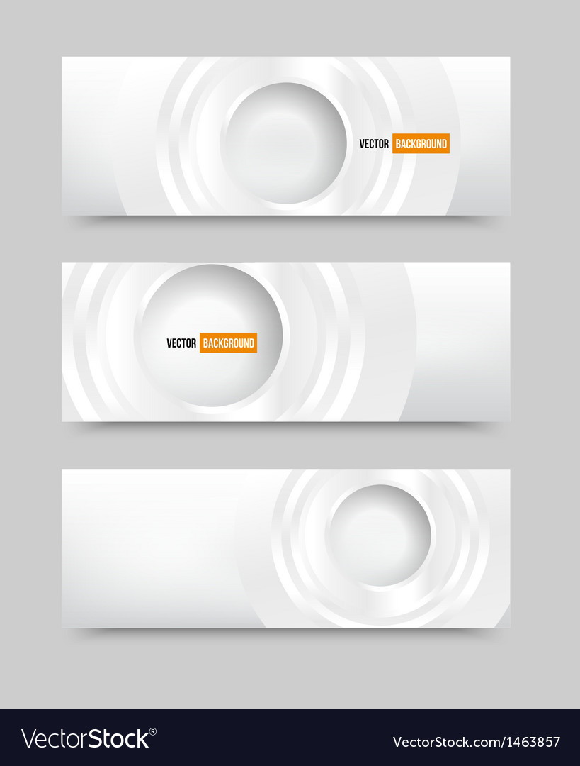Banner blank circles 20062013 vector