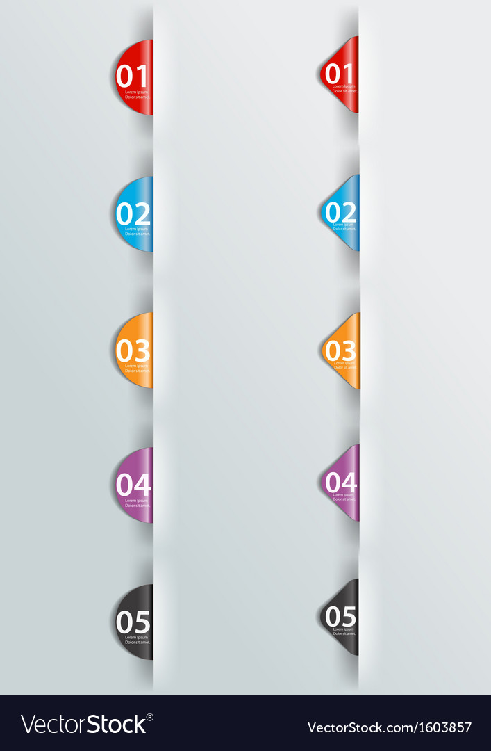 Infographics label vector