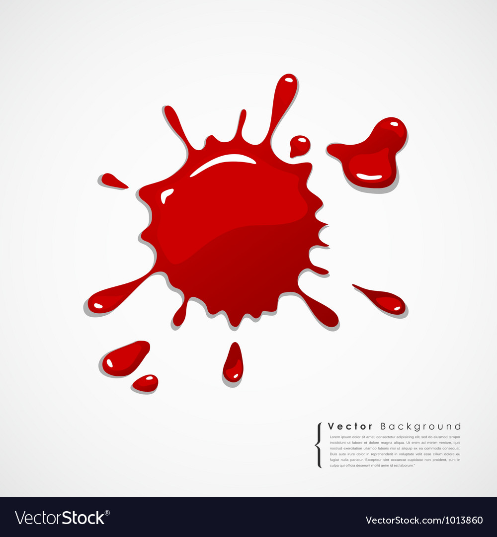Red blood background vector
