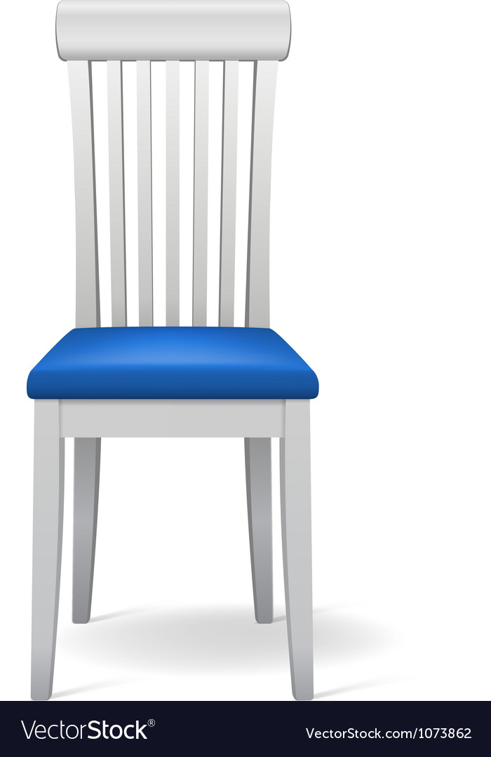 Isolated chair vector