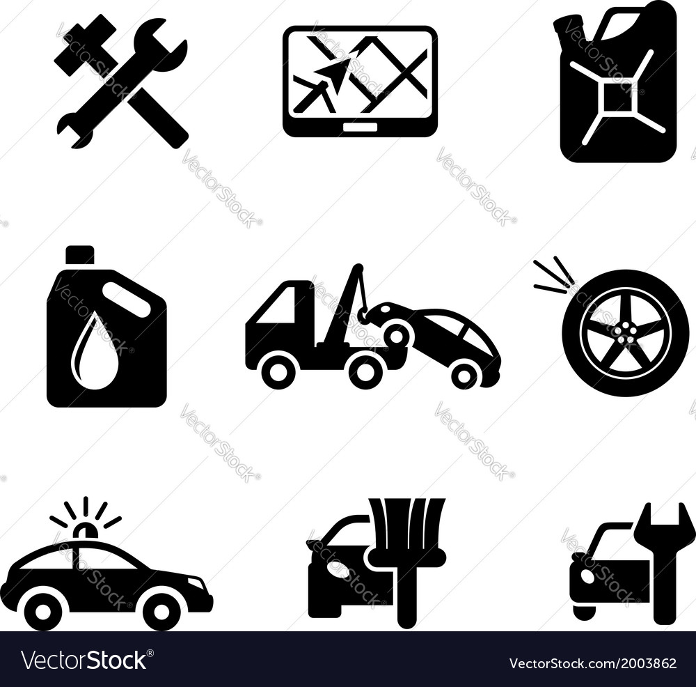 Set ofcar service and automobile icons vector