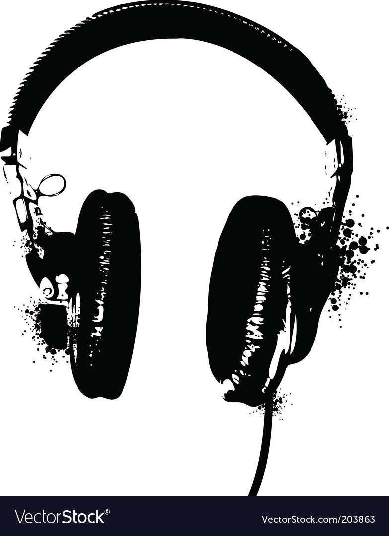Headphones stencil vector