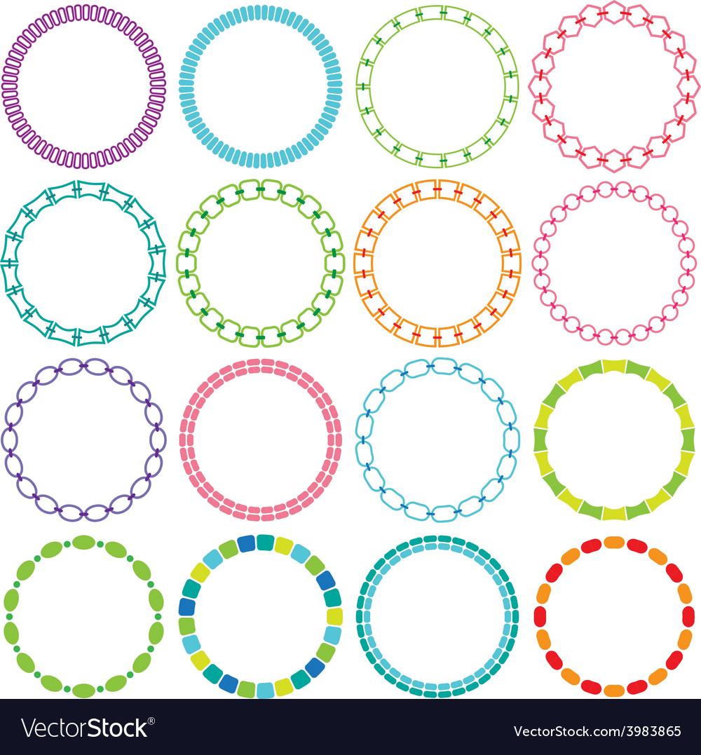 Mod circle frames vector