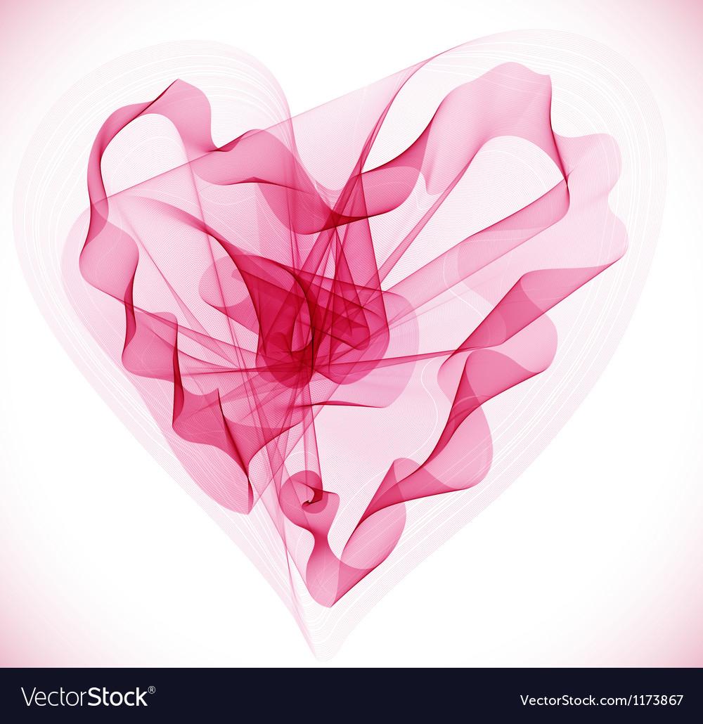 Abstract heart vector