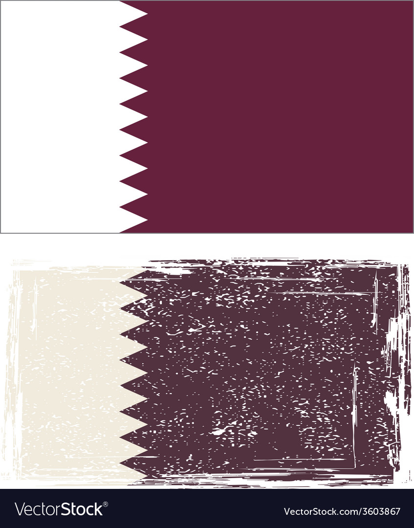 Qatar grunge flag vector