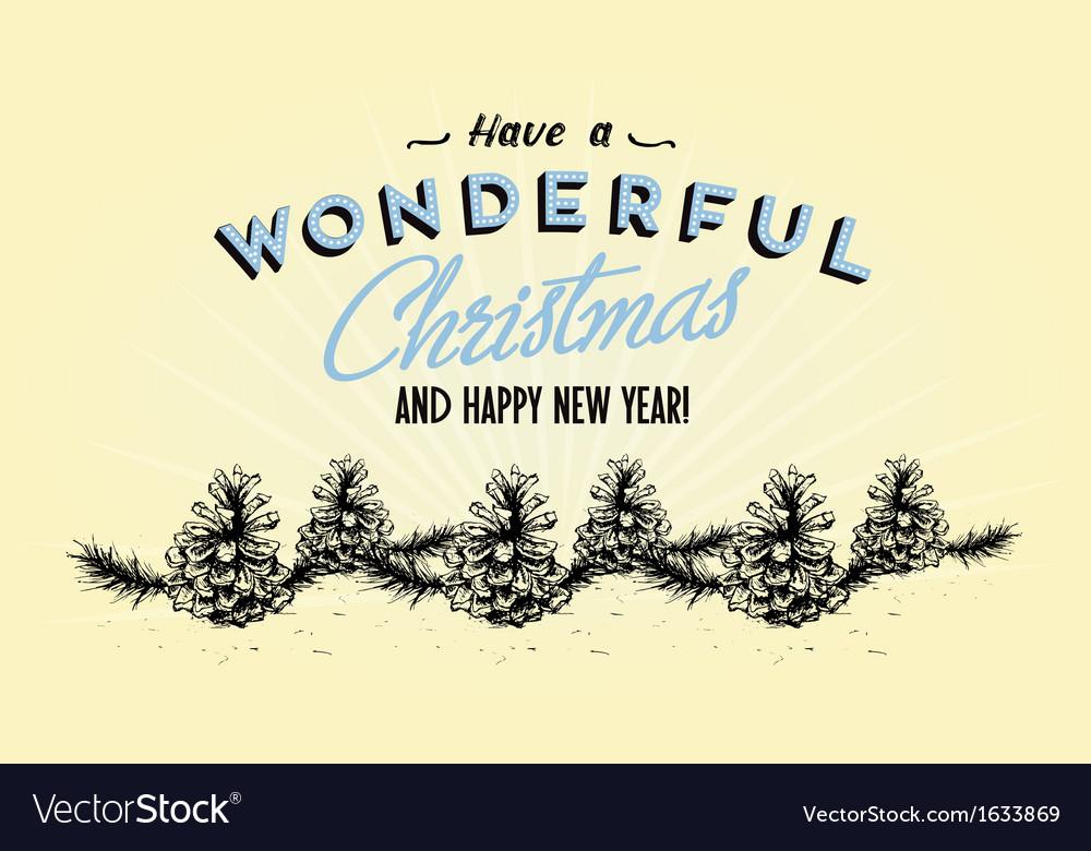354retro vintage merry christmas tin sign vector