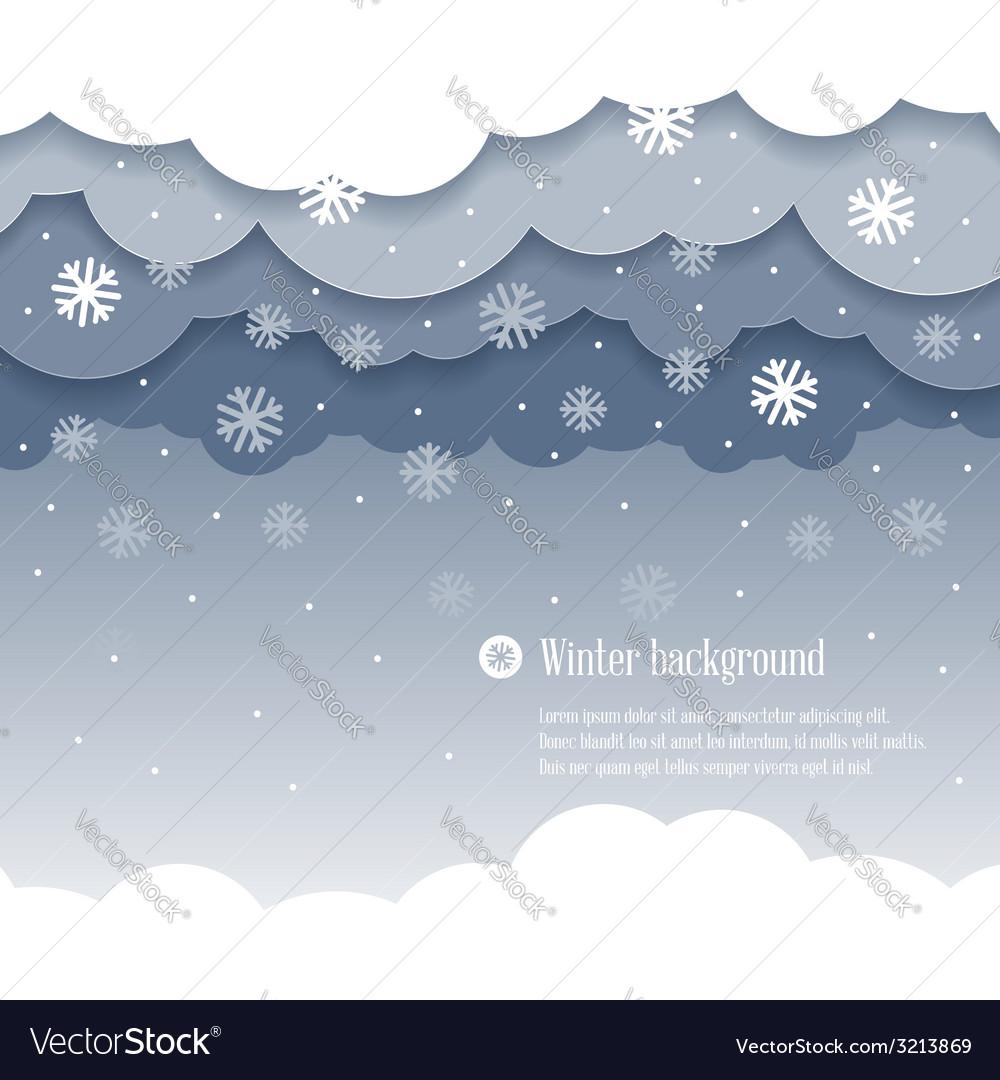 Clouds winter vector