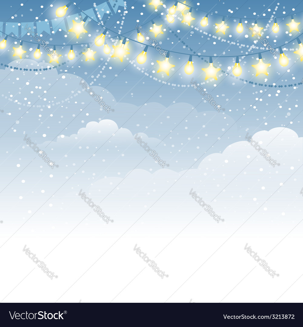 Christmas winter background vector