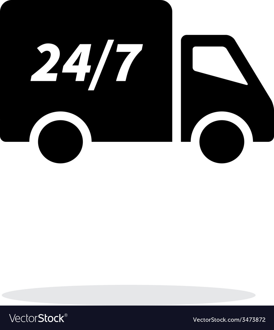 Delivery service seven days a week icon on white vector