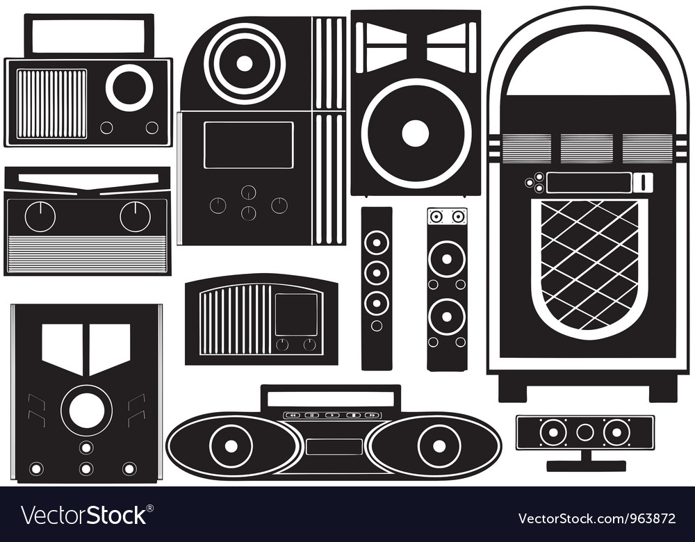 Entertainment objects vector