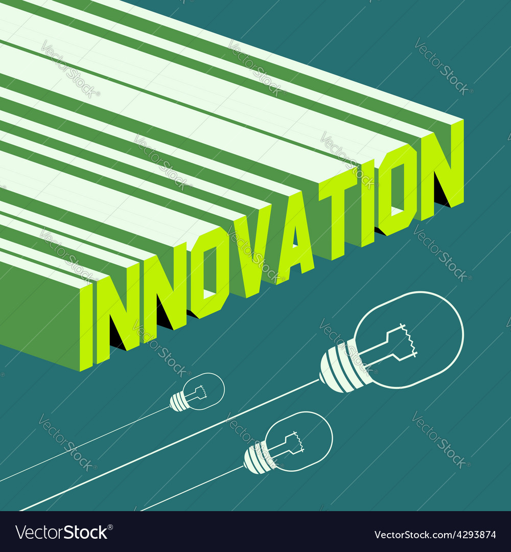 Innovation word abstract background with 3d vector