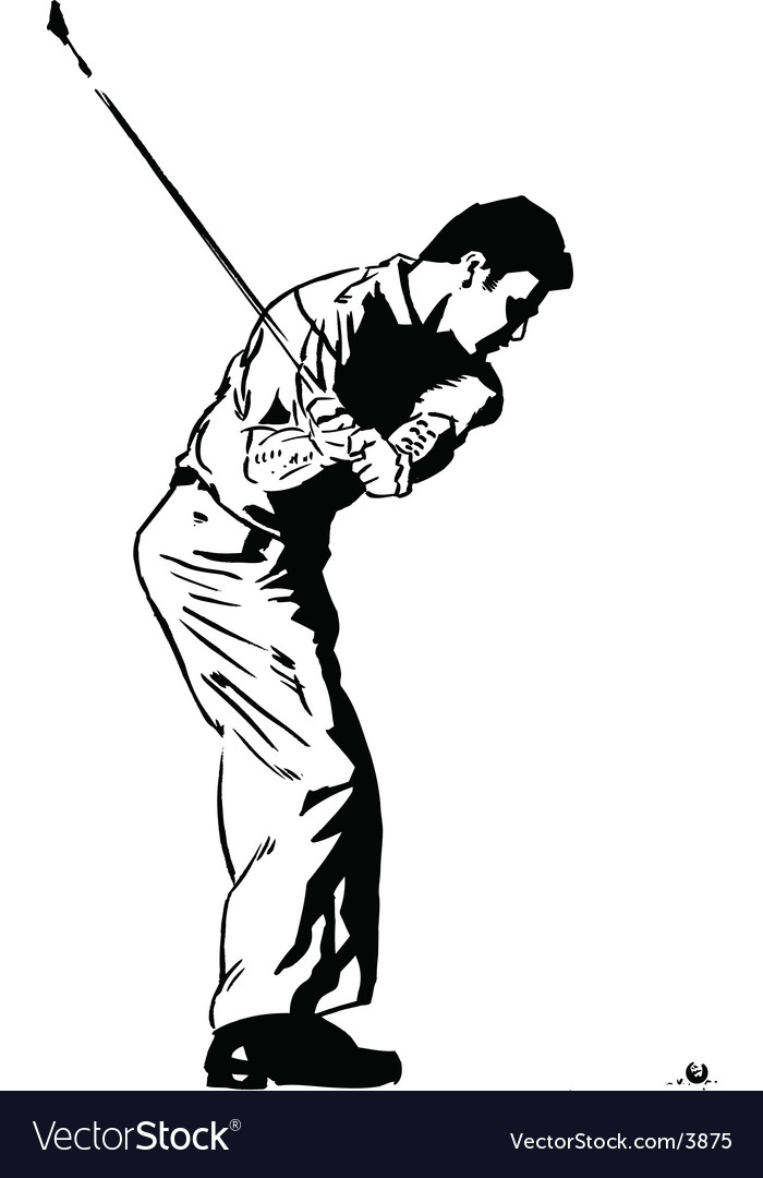 Golf pose vector