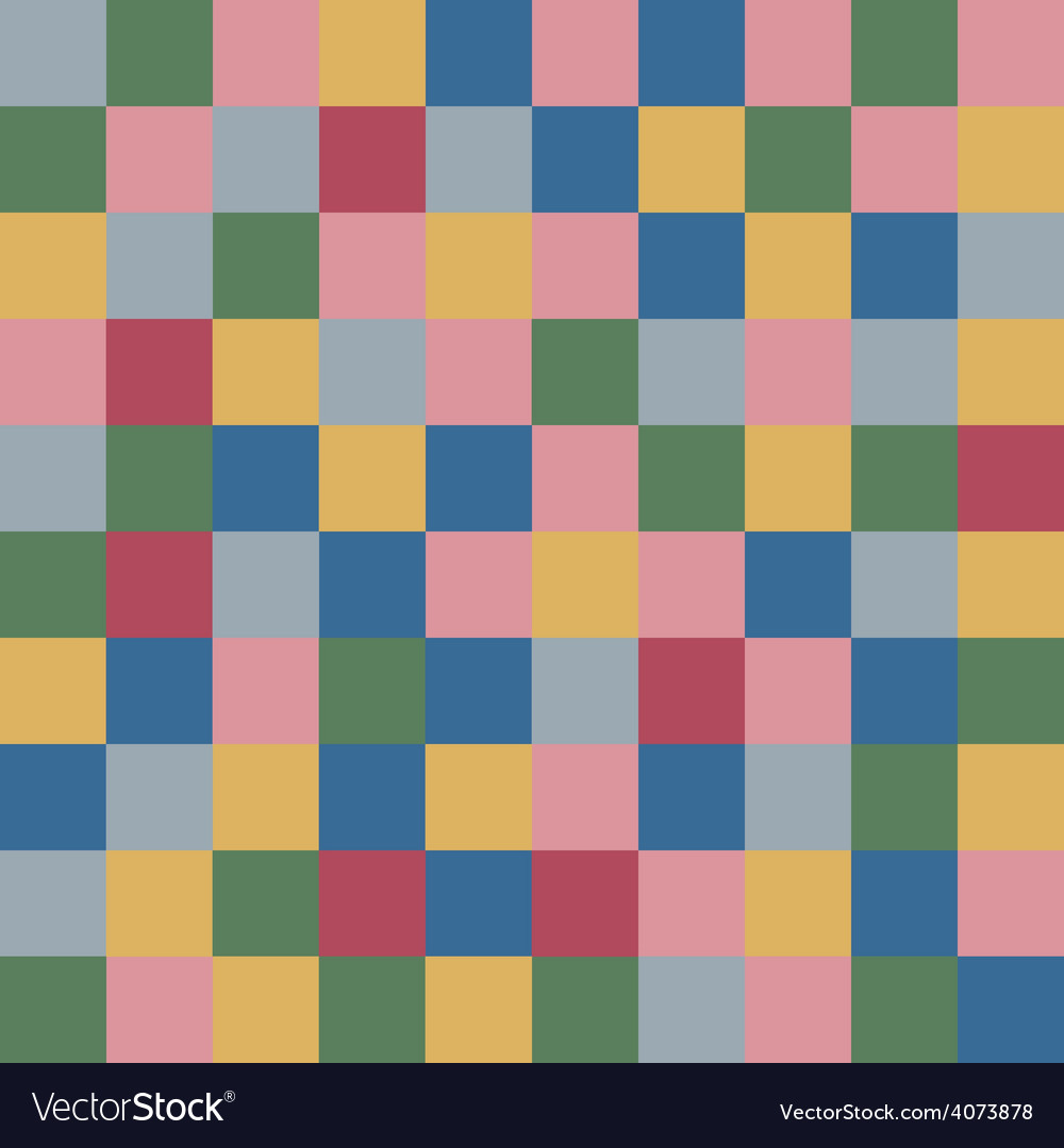 Colored squares textile abstract background vector