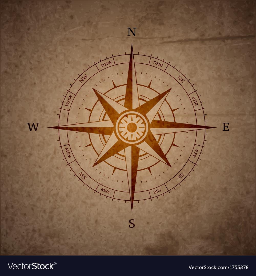 Retro navigation compass vector