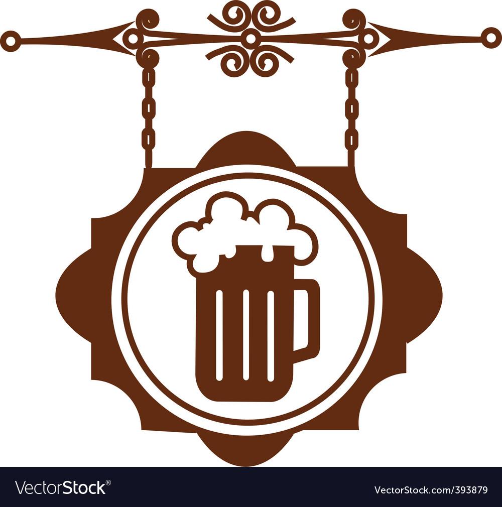 Bar sign post vector