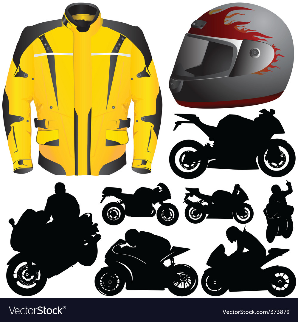 Race motorcycle vector
