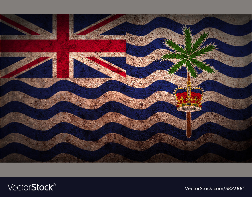 Flag of british indian ocean territory with old vector