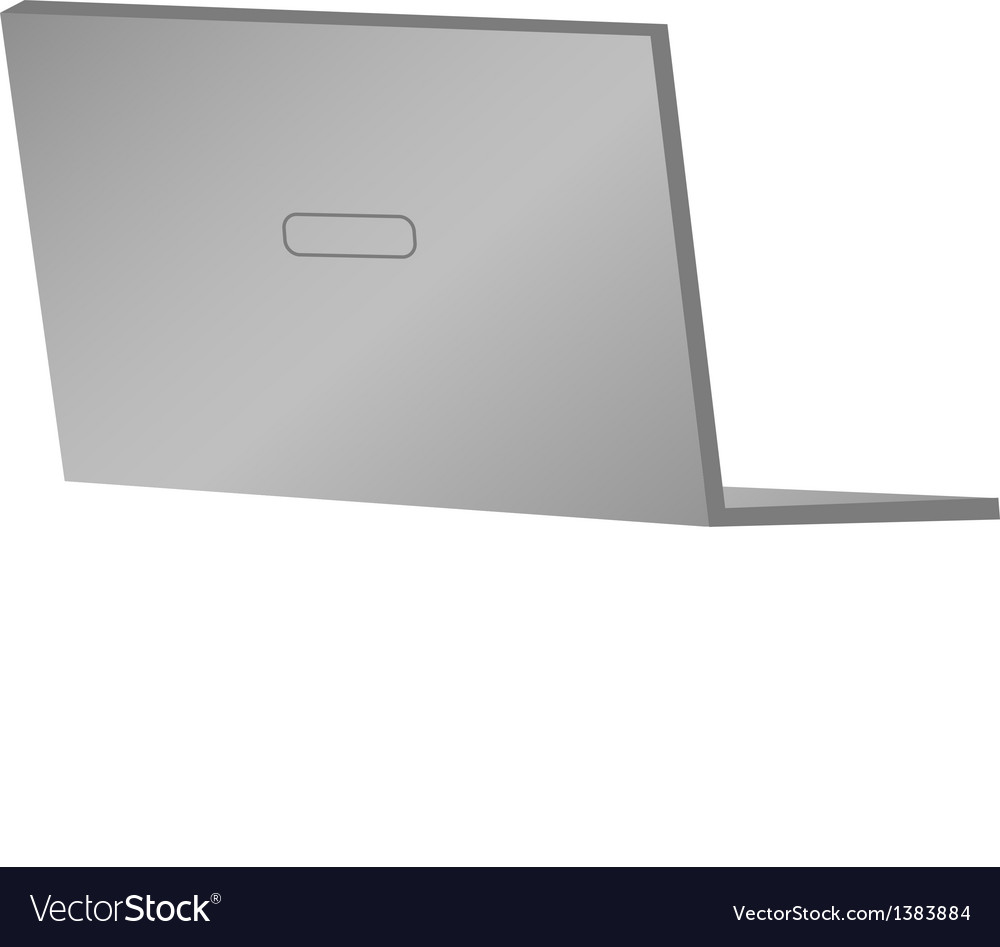 A view of a laptop vector