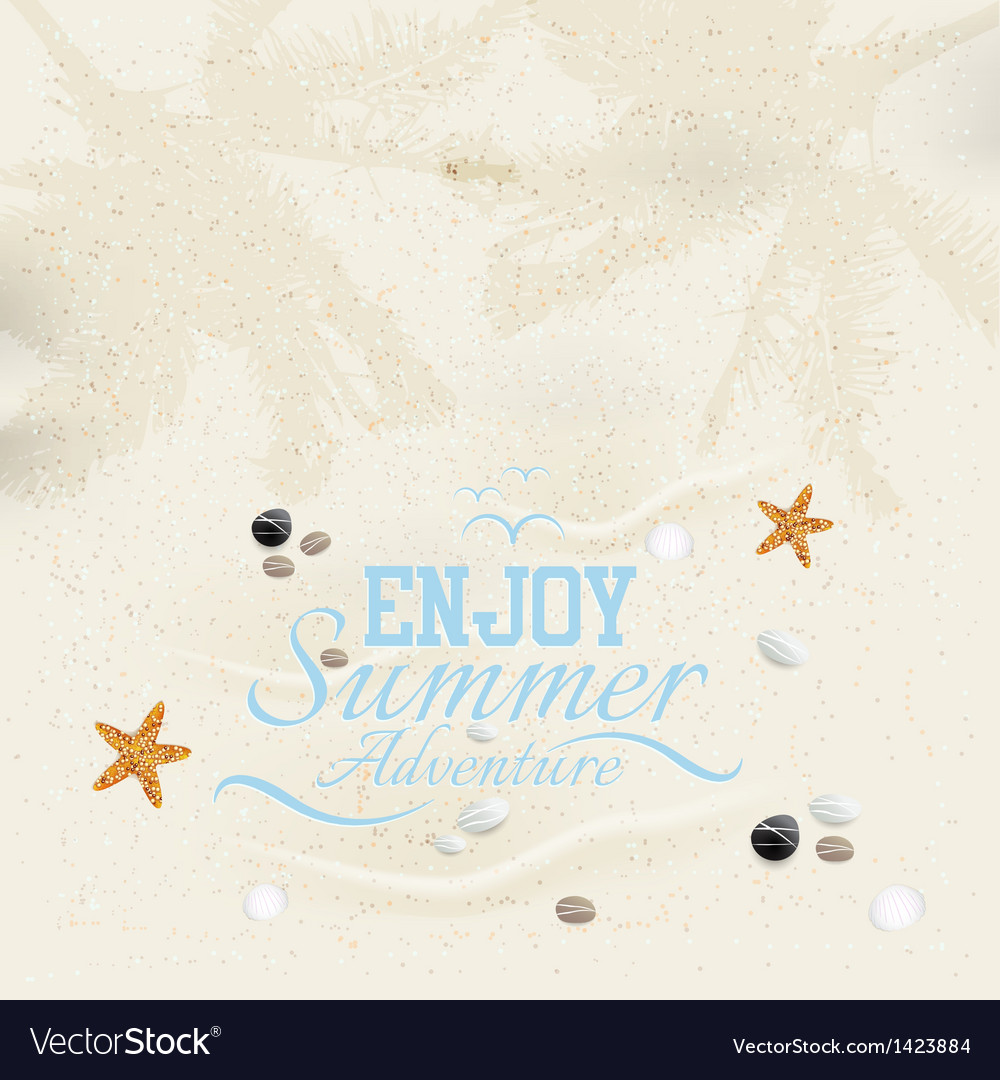 Summer sand background vector