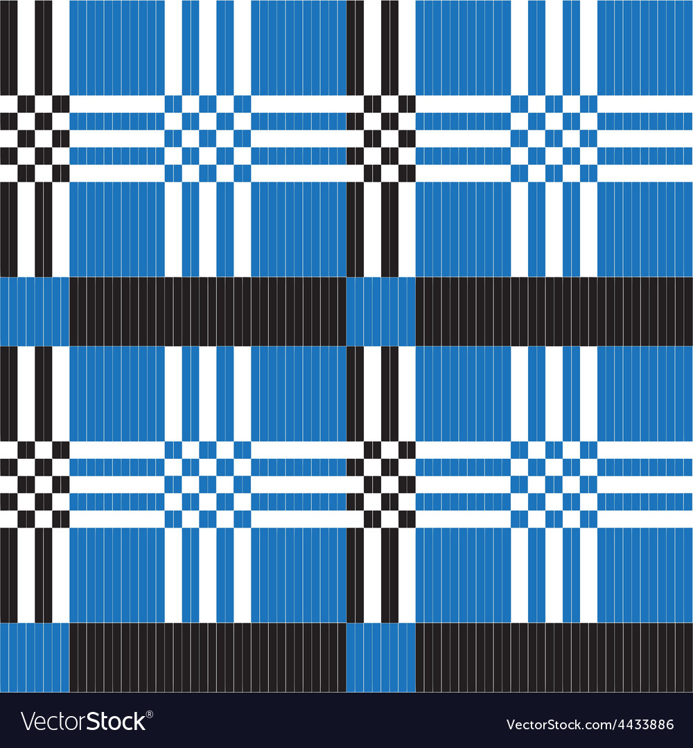 Ethnic textile ornament pattern in different vector