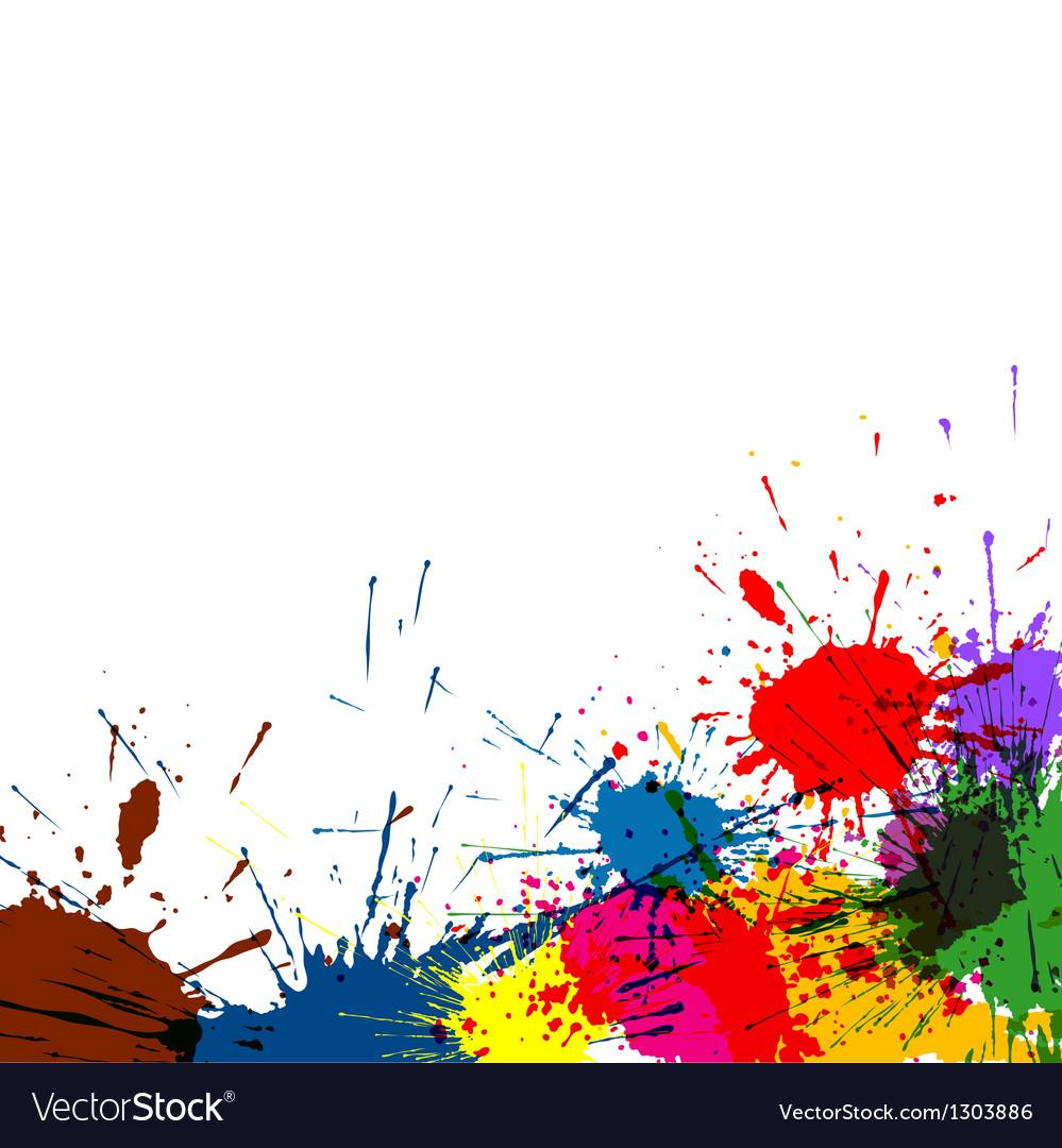 Splatter paint background vector