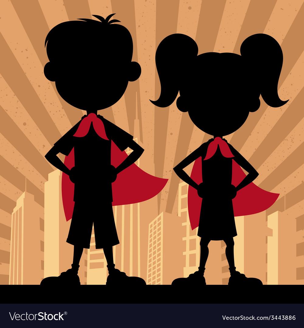 Super kids 2 vector