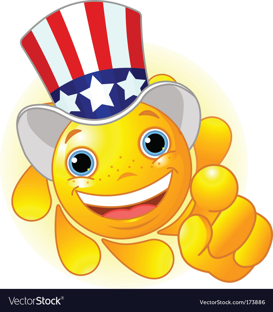 Uncle sam sun pointing vector
