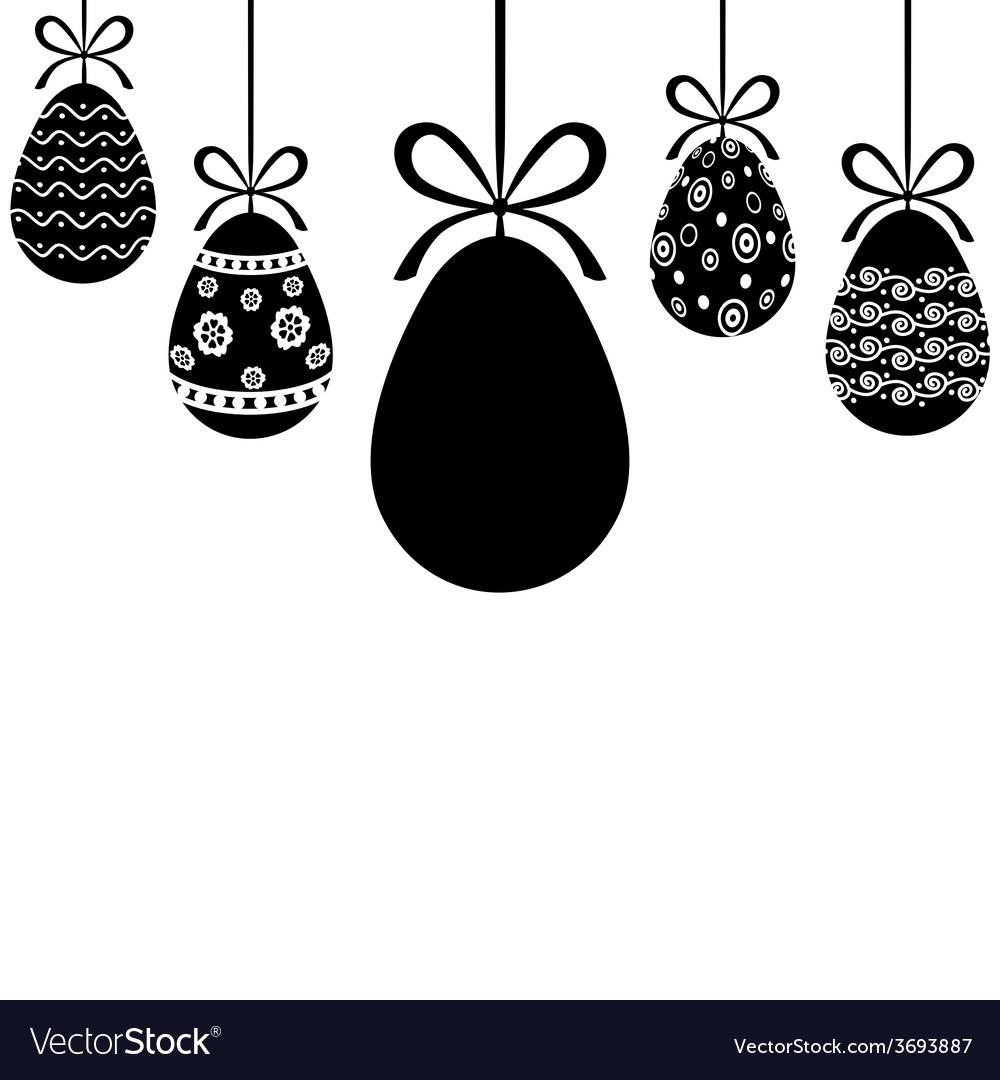 Egg hanging vector