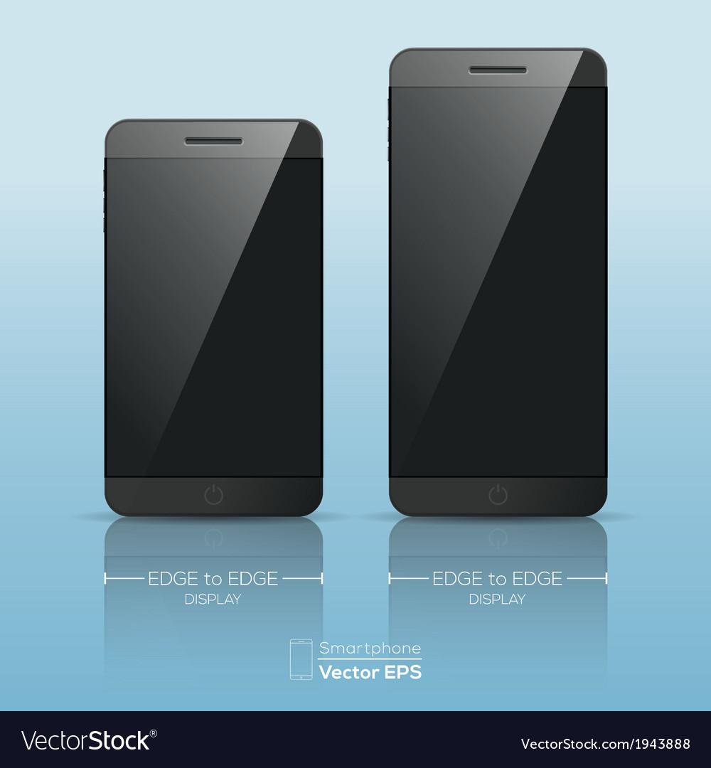 Responsive smart phone mock up vector