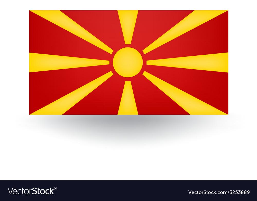 Macedonia flag vector