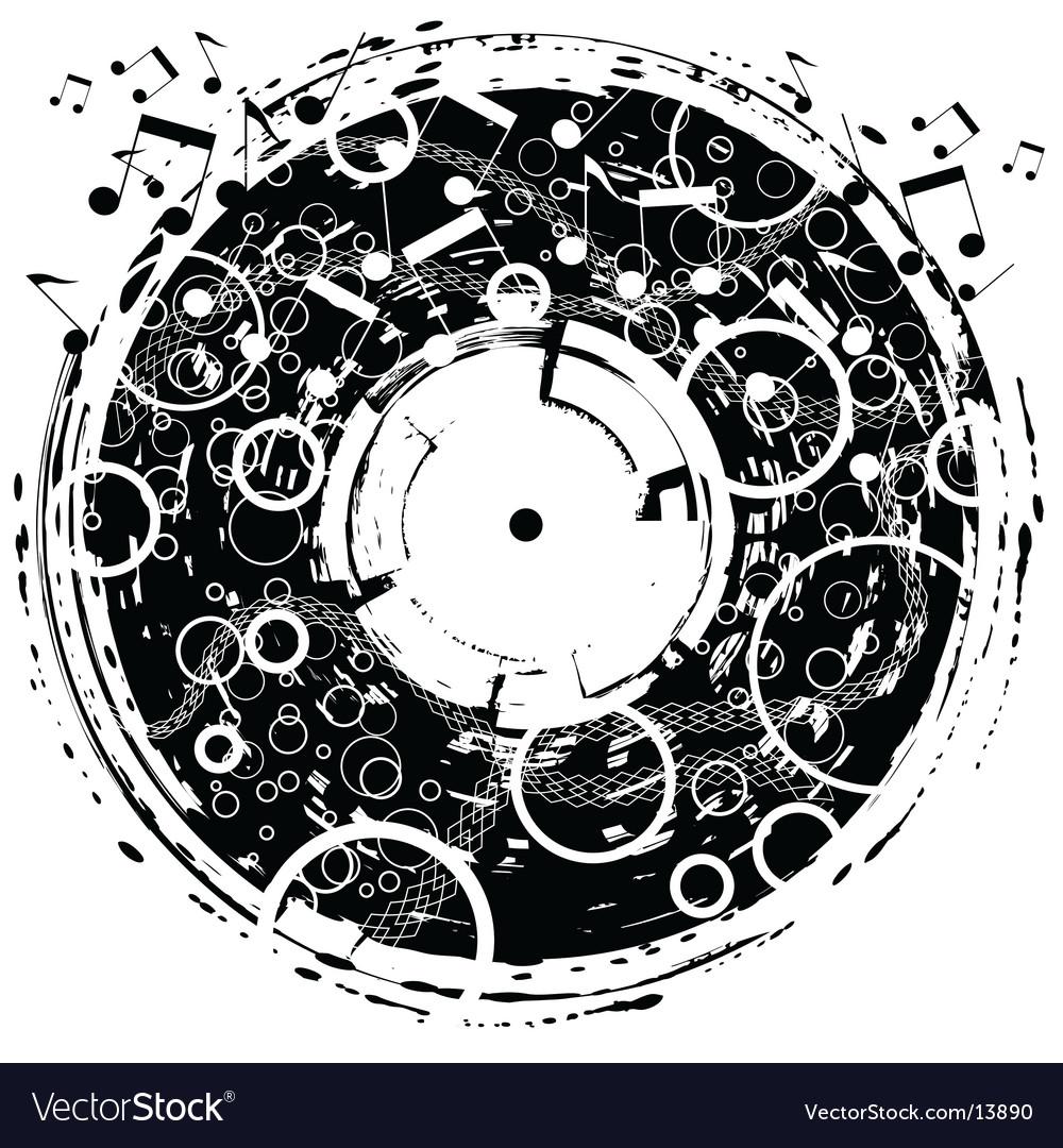 Disk grunge vector