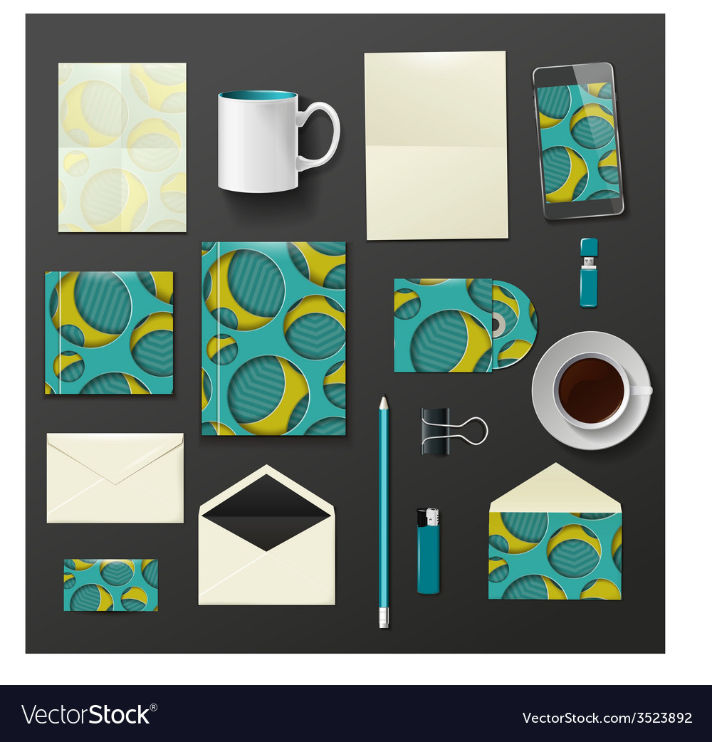 Company corporate style template design vector