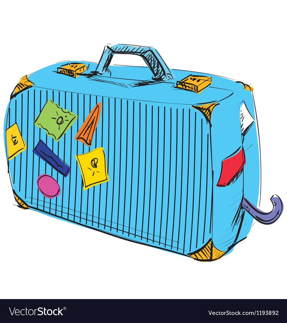 Journey suitcase vector